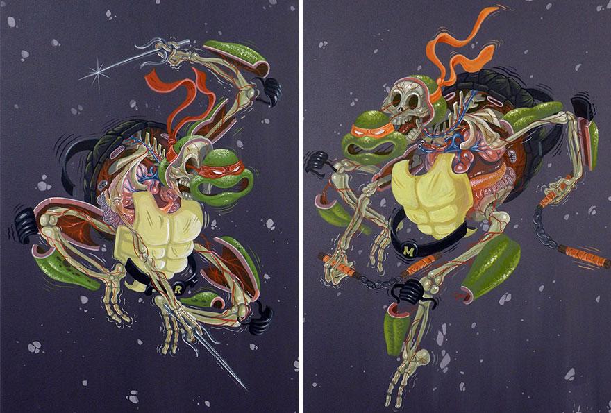 street art anatomia caricaturas img 6