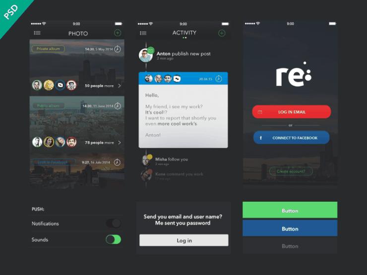 App UI Kit por Anton Skugarov
