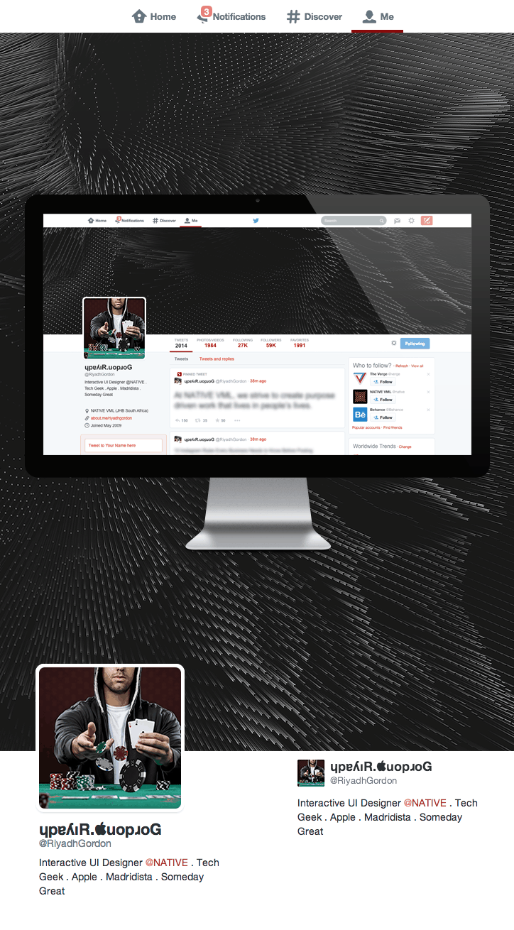 Twitter UI Kit por Riyadh Gordon