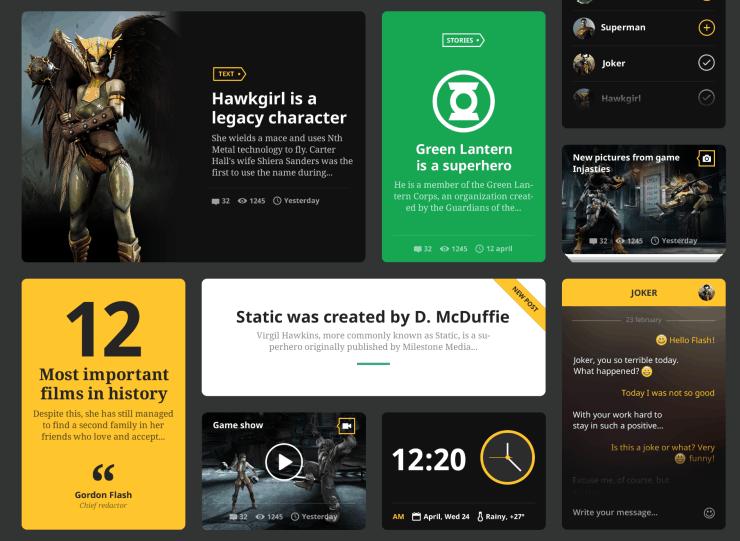 Hero: Web UI Kit por Vlad Kamelsky
