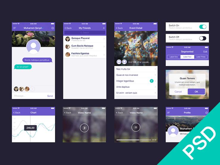 App UI Kit por Muharrem ?eny?l