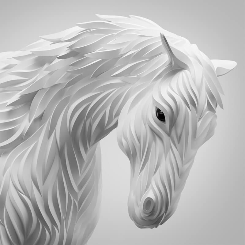vector caballo