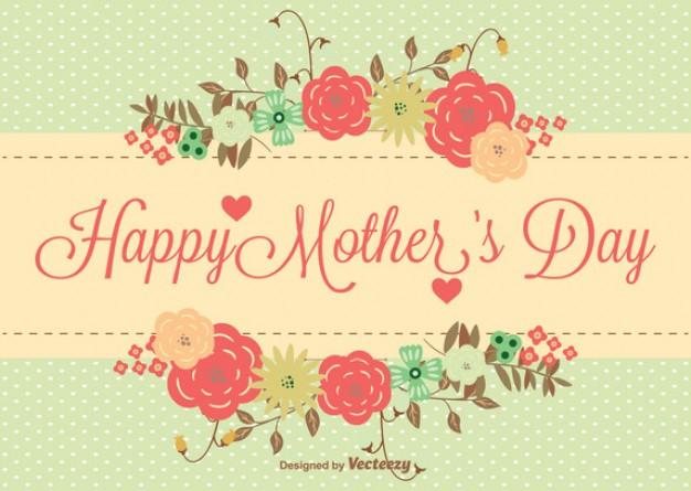 vectores tarjetas dia de las madres 12