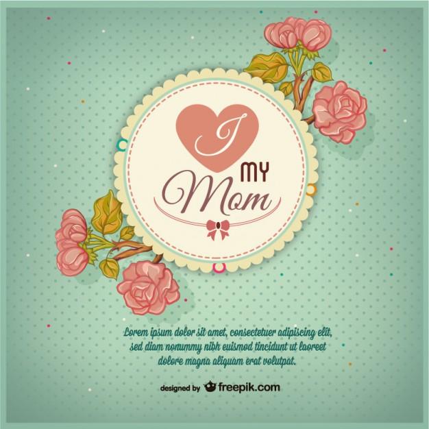 vectores tarjetas dia de las madres 13