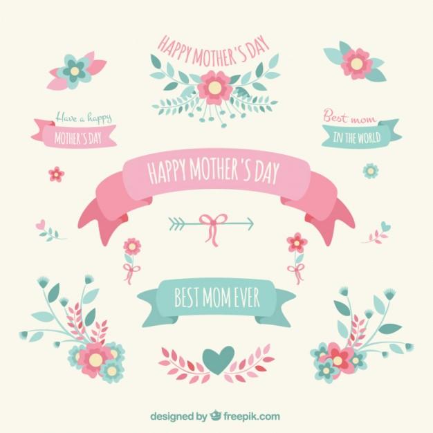 vectores tarjetas dia de las madres 15