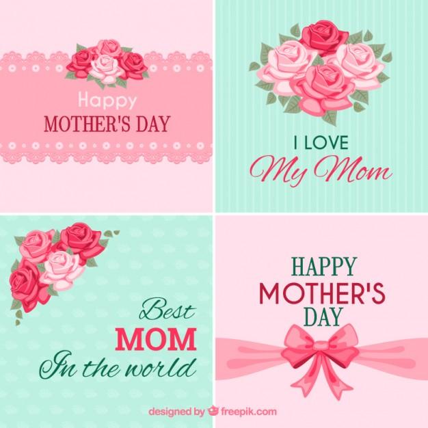 vectores tarjetas dia de las madres 17
