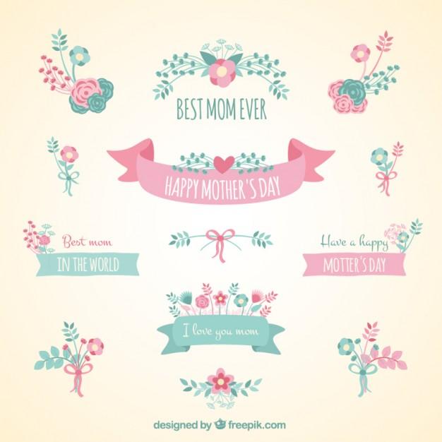 vectores tarjetas dia de las madres 4