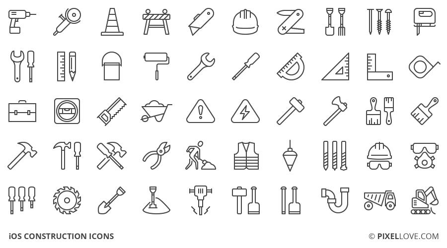 iconos de construccion