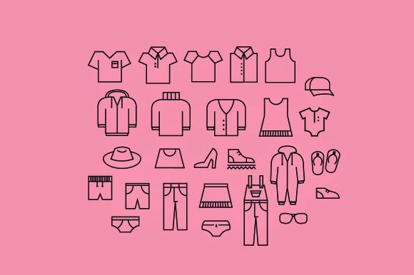 iconos ropa