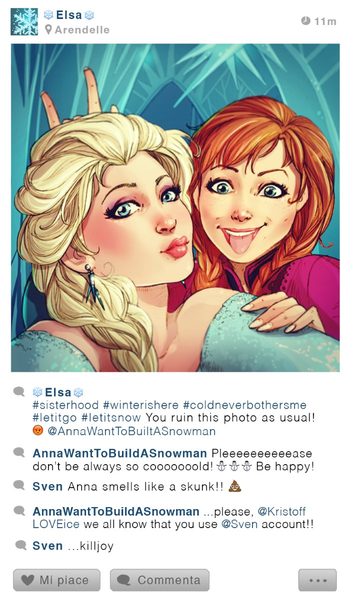 personajes disney instagram elsa