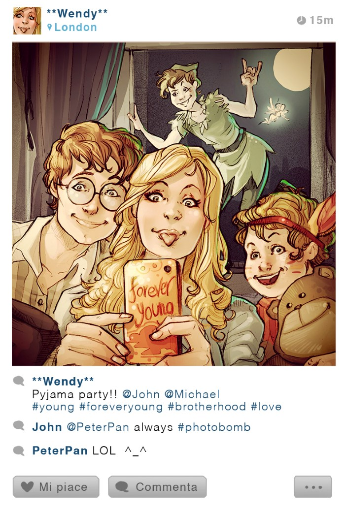 personajes disney instagram peter pan