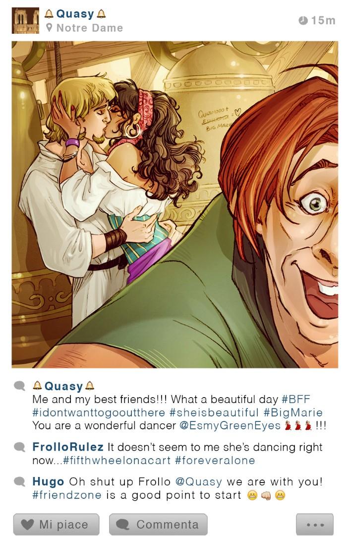personajes disney instagram quasimodo