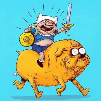personajes caricaturas viejos hora de aventura
