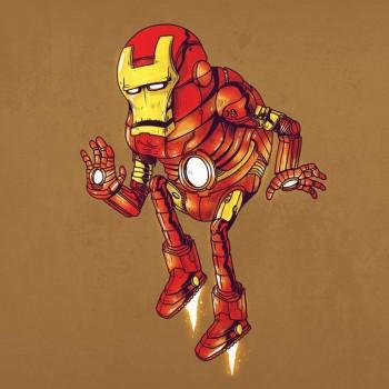personajes caricaturas viejos iron man