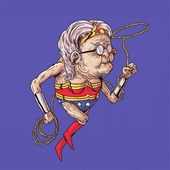 personajes caricaturas viejos mujer maravilla