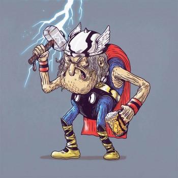 personajes caricaturas viejos thor