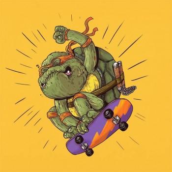 personajes caricaturas viejos tortugas ninja