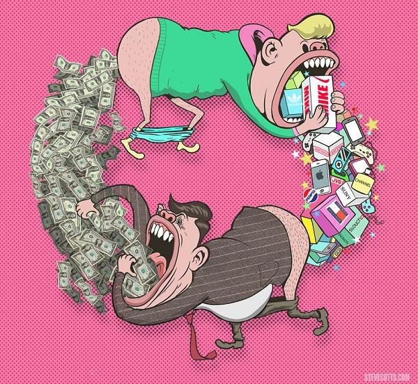 Steve Cutts ilustraciones satira de la vida moderna img 3