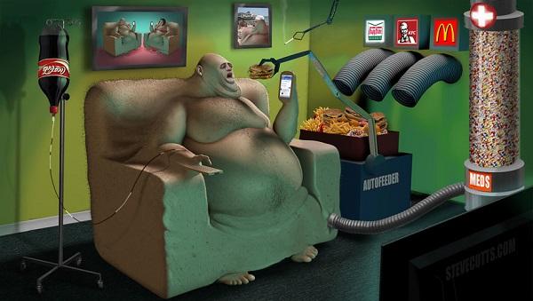 Steve Cutts ilustraciones satira de la vida moderna img 4