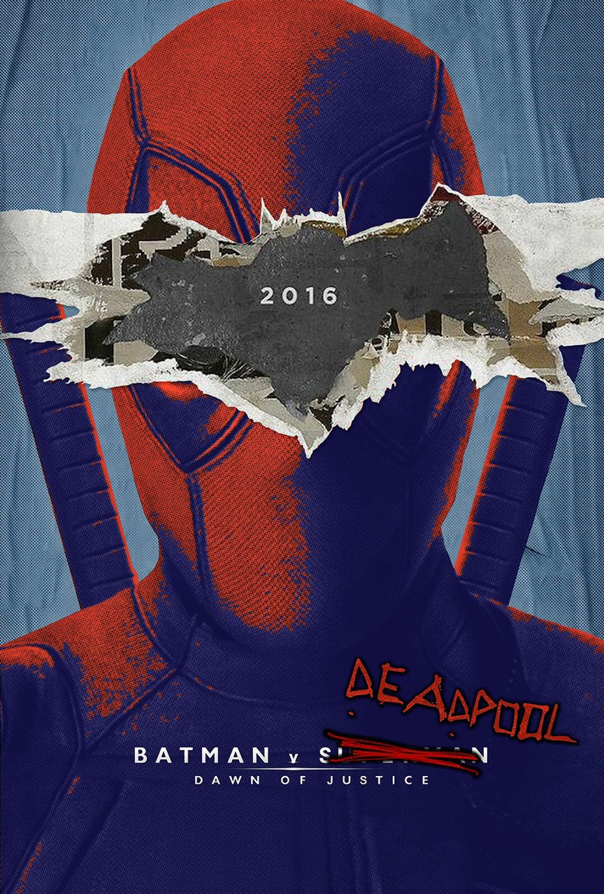 deadpool fan art poster batman