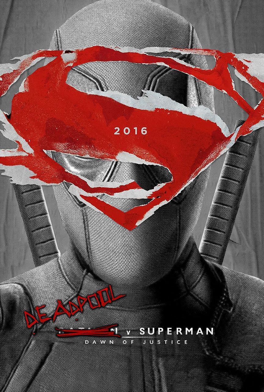 deadpool fan art poster superman