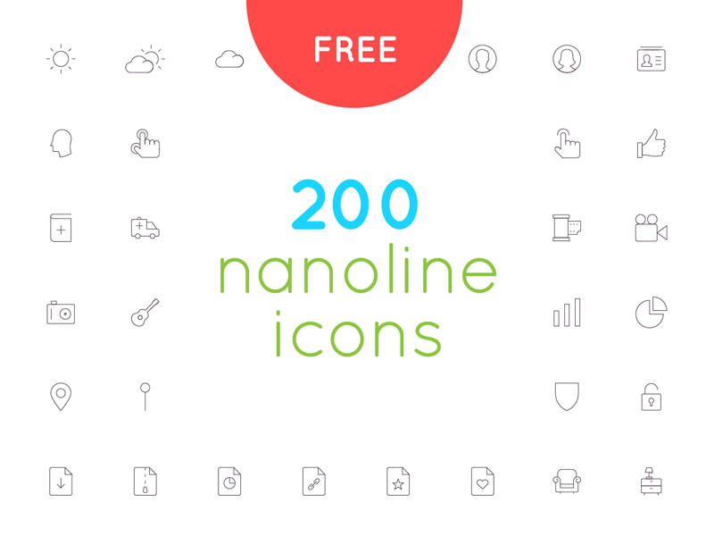 200 Nanoline Icons