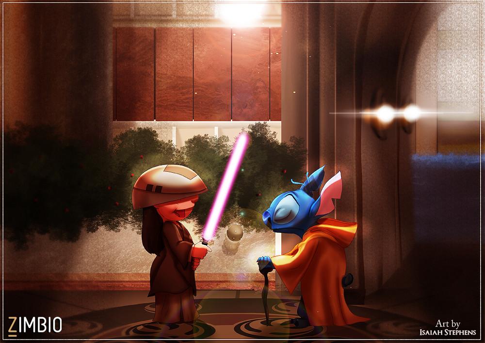 parodia personajes de disney star wars 1
