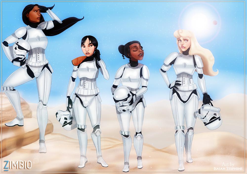 parodia personajes de disney star wars 4