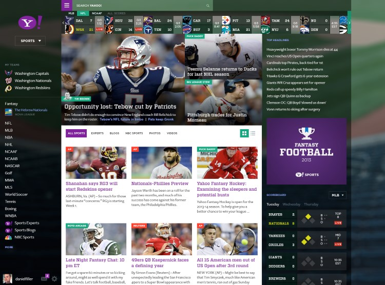 Yahoo Sports Concept