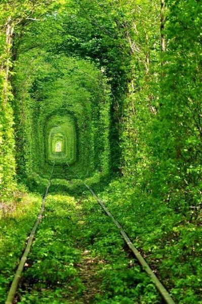 Túnel del amor en kleven ucrania ex unión soviética