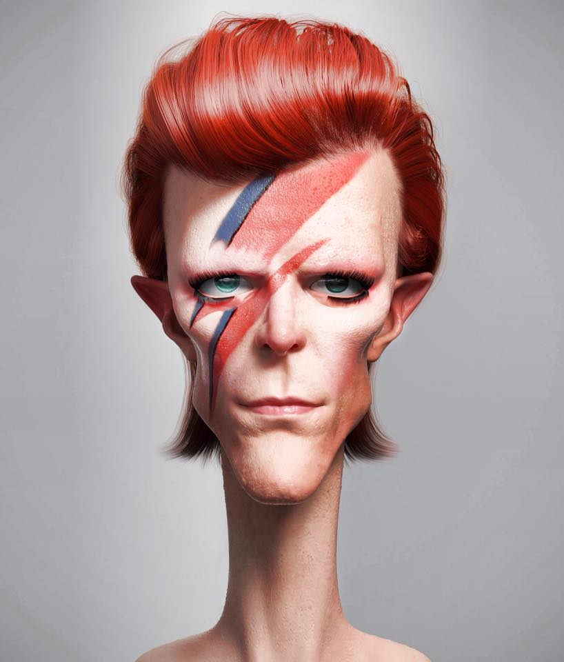 David Bowie por Guzz Soares