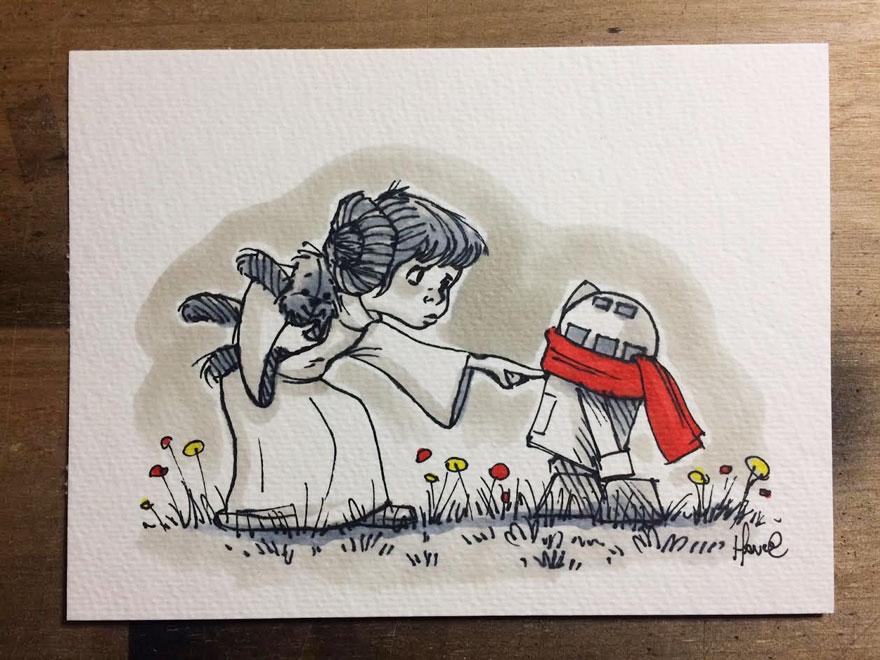 Personajes Star Wars Winnie Pooh 13