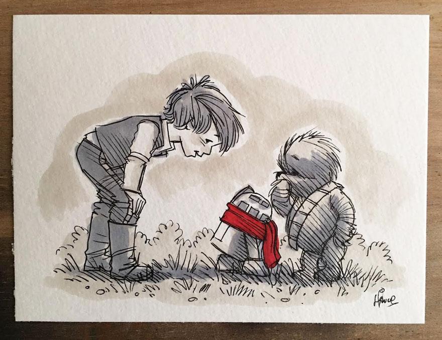 Personajes Star Wars Winnie Pooh 4