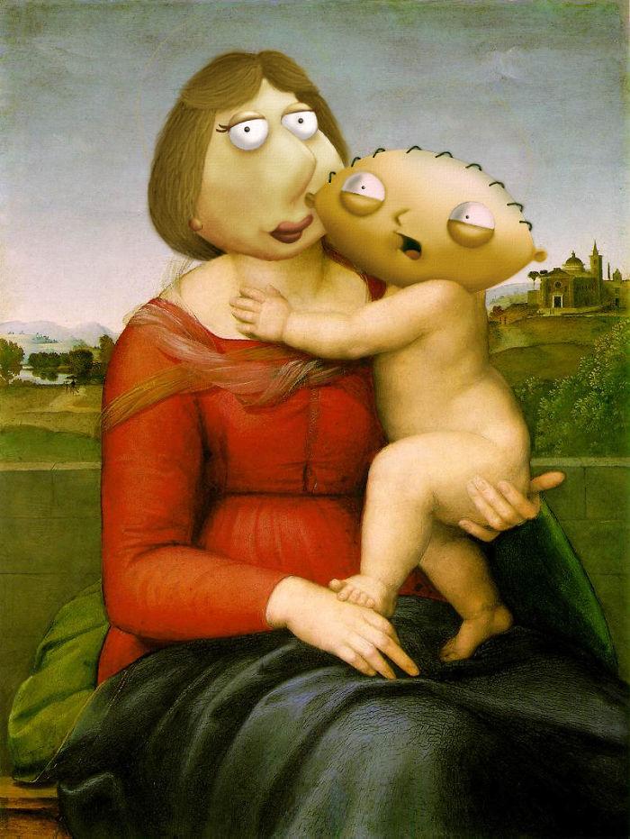 """""""El pequeño Crowped Madonna"""" de Rafael"""