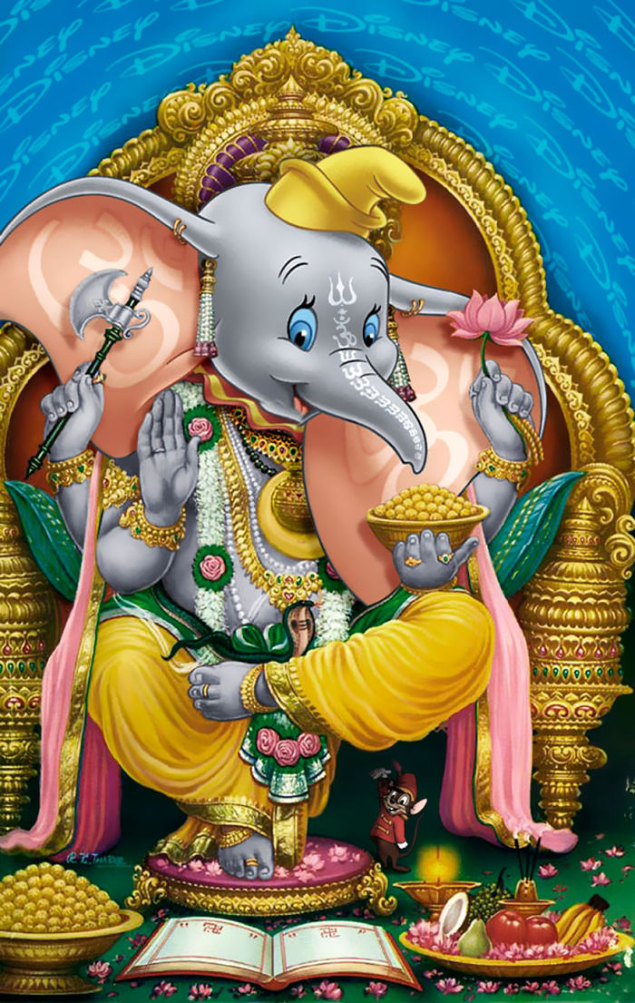 """""""Ganesha"""" en una ilustración adornada"""