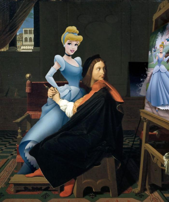"""""""Rafael y La Fornarina"""" por Jean Auguste Dominique"""