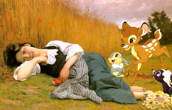 """""""El descanso en la cosecha"""" de William Adolphe Bouguereau"""