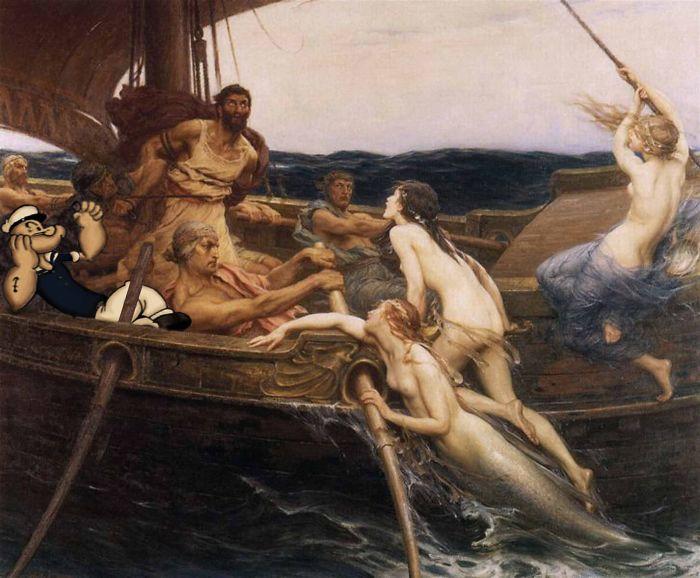 """Ulises y las Sirenas"" de Herbert James Draper"