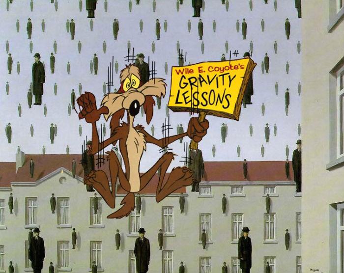 """""""Golconda"""" por René Magritte"""