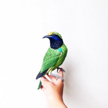 Diana Beltran Herrera esculturas de papel aves mariposas 11