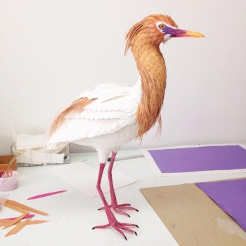 Diana Beltran Herrera esculturas de papel aves mariposas 15