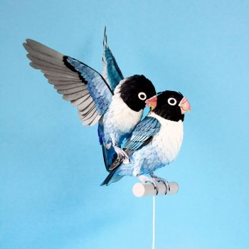 Diana Beltran Herrera esculturas de papel aves mariposas 6