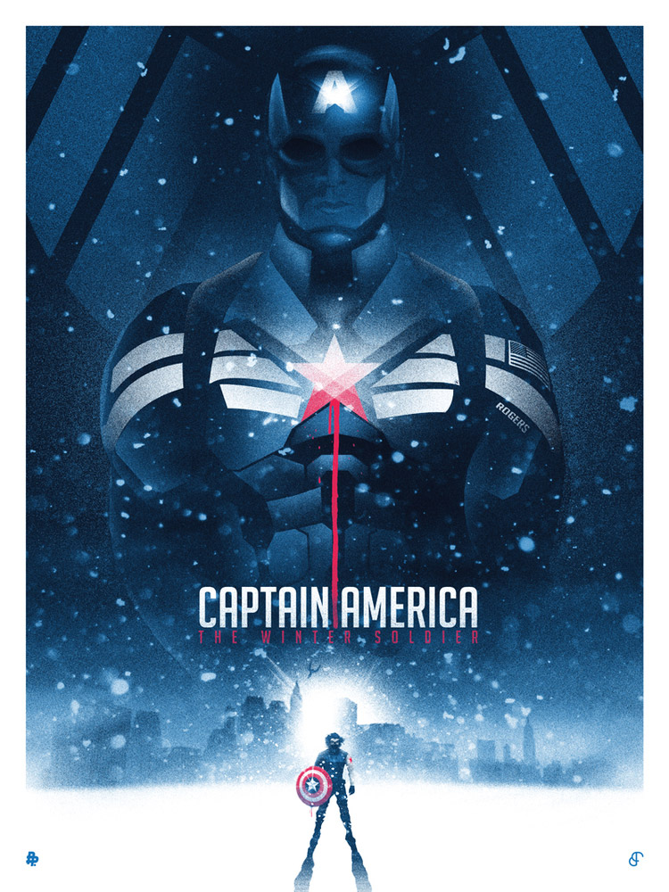 Patrick Connan poster capitan america