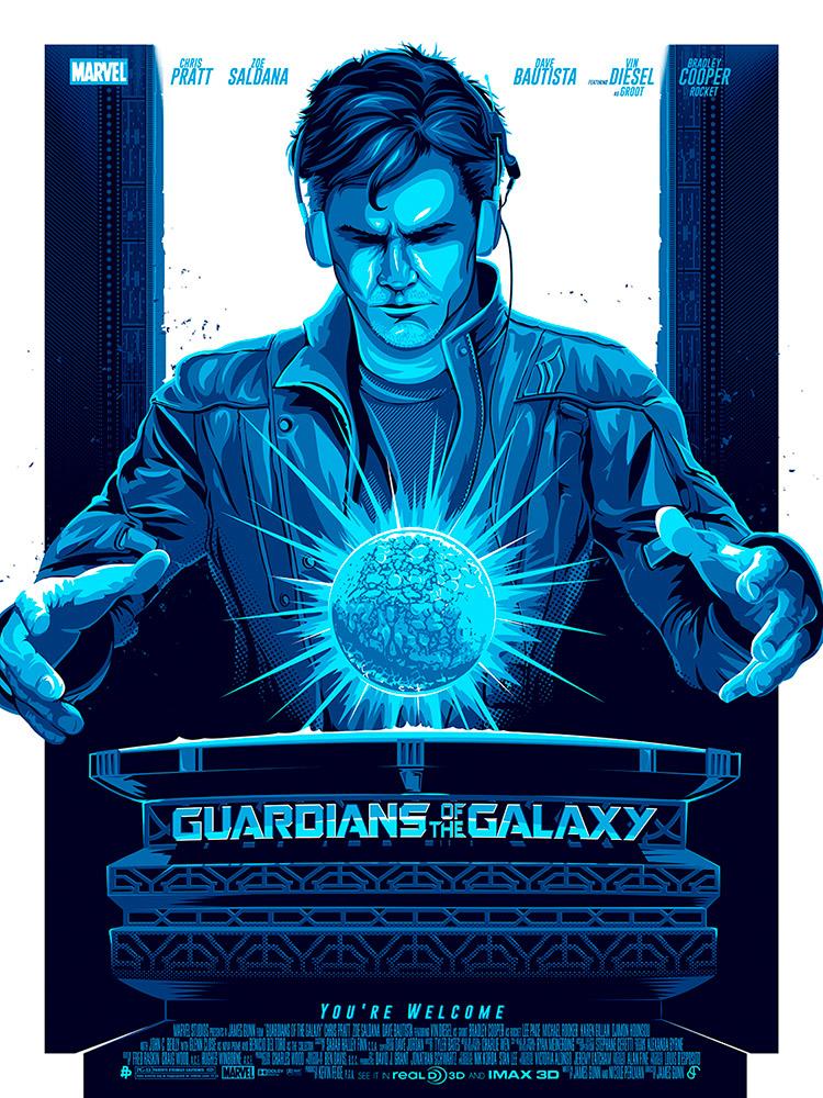 Patrick Connan poster guardianes de la galaxia