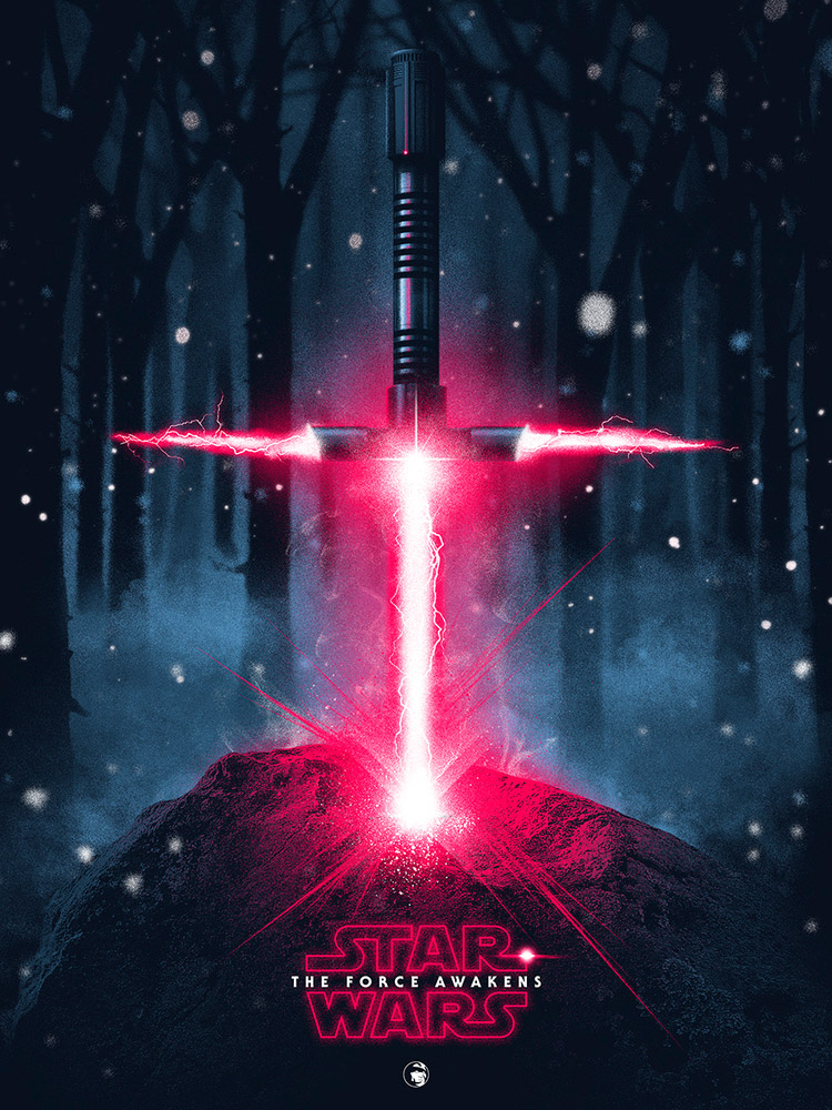 Patrick Connan poster star wars the force awakens
