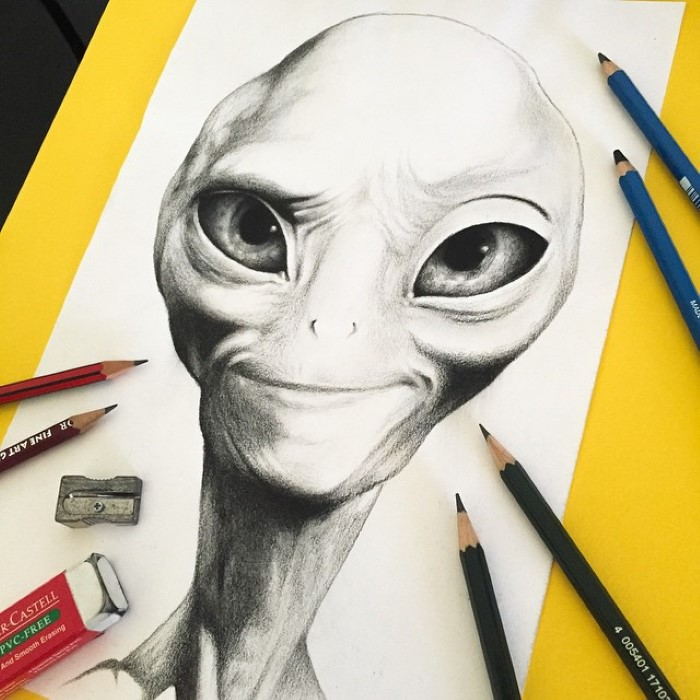 ilustraciones Stephen Ward alien paul