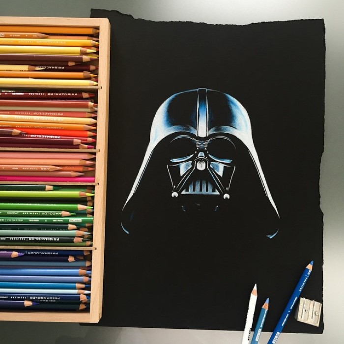 ilustraciones Stephen Ward darth vader