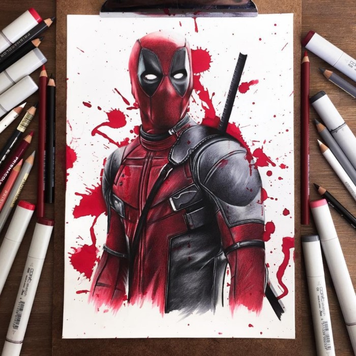 ilustraciones Stephen Ward deadpool