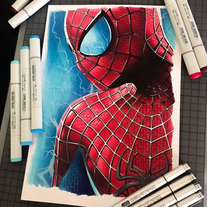 ilustraciones Stephen Ward spiderman