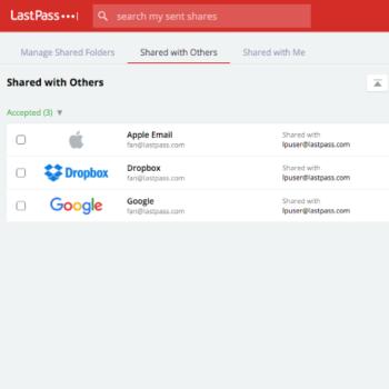 Comparte tus contraseñas con otros servicios como Dropbox, Apple, Google, etc.